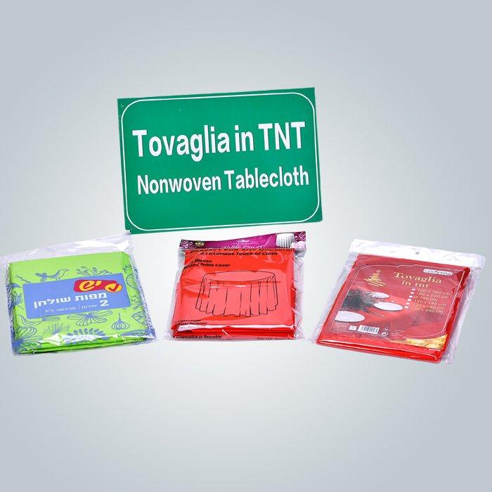 Runde TNT PP Spunbond nicht gewebte Stoff für die Herstellung von Tischdecke / Rosso / Blu / Bianco / Nero