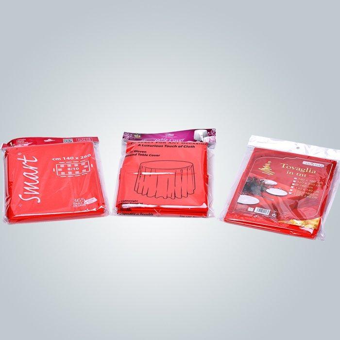 TNT sigara dokuma tablo kapak tek kullanımlık küçük rulo Spunbond s sigara dokuma kumaş masa örtüsü