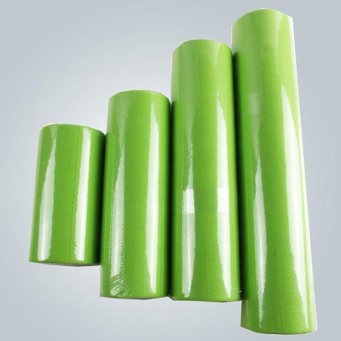 Tissu de table pour le petit rouleau prédécoupé non tissé couleur verte