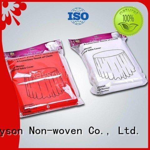 non woven cloth full rayson nonwoven,ruixin,enviro Brand non woven tablecloth