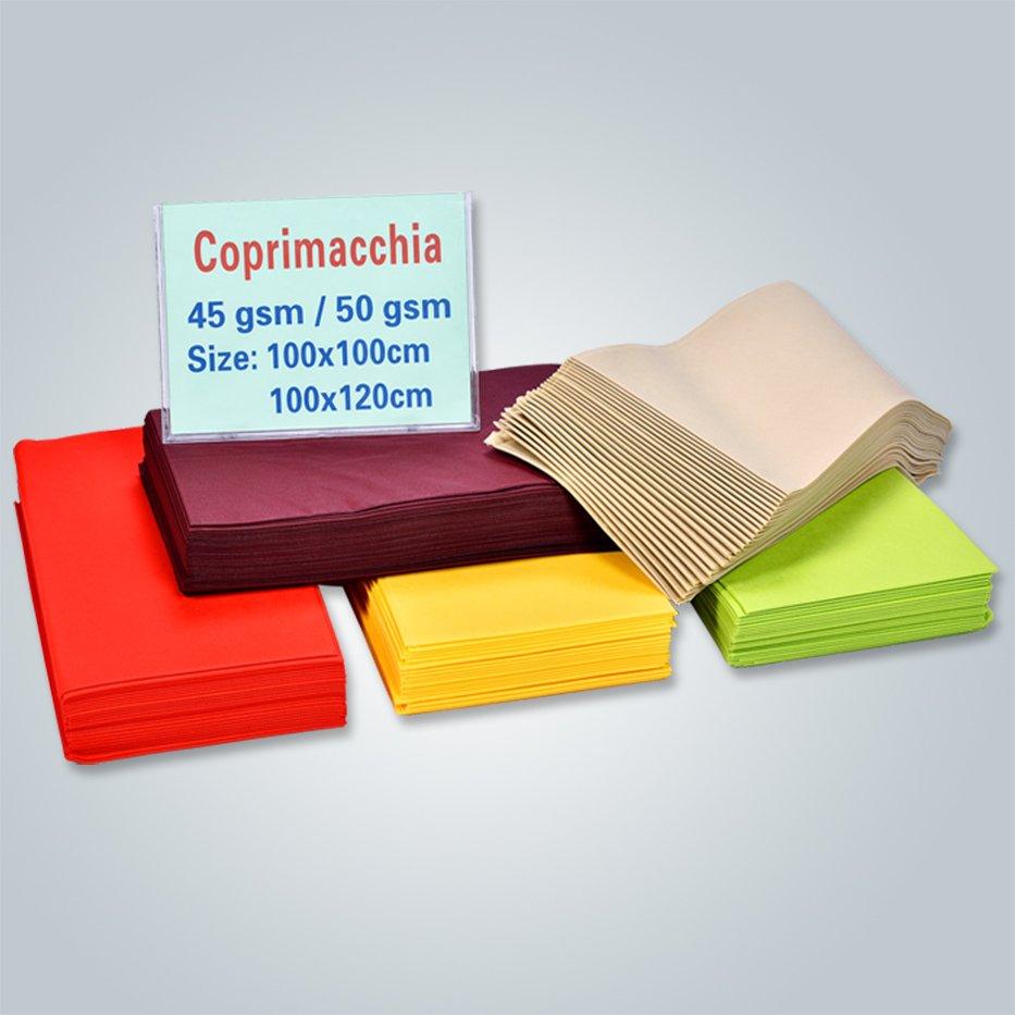 50gr bordeaux quadrado toalha de tnt não tecido RS-TC08