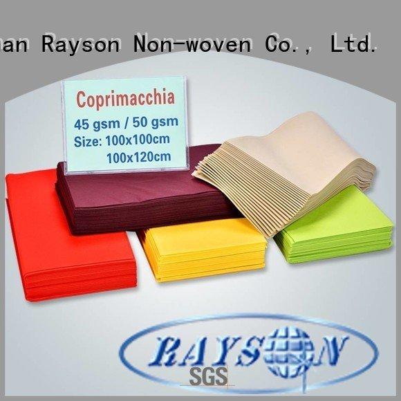 Custom 3875gsm 50gr non woven tablecloth rayson nonwoven,ruixin,enviro rstc02