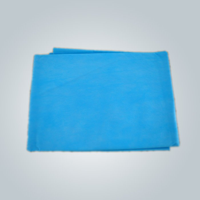 Clinic / Hotel Hygiene Blue /Pink  Disposable Bed sheet Easy Carry Paper Bedsheet