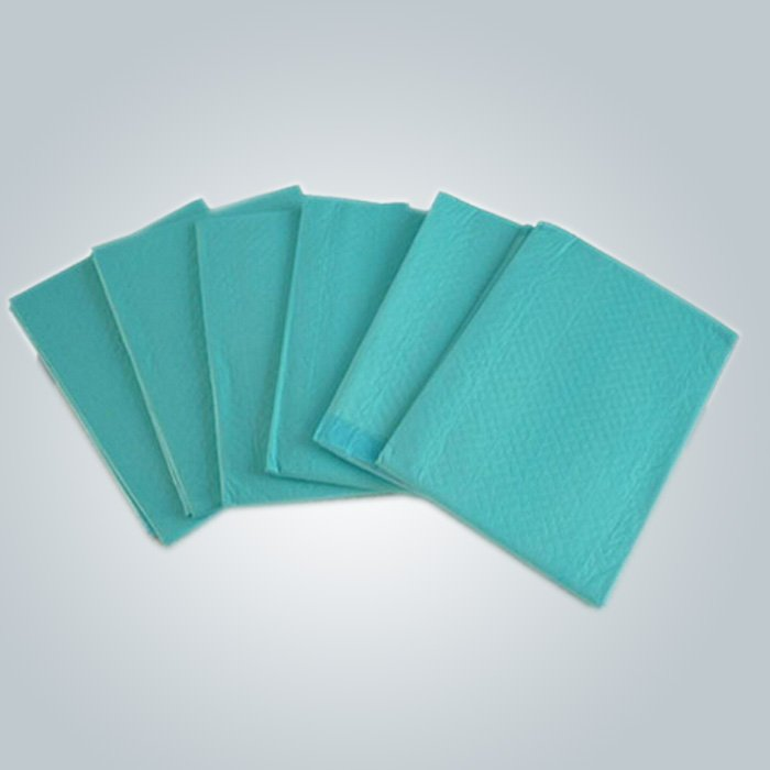 100% Polypropylene PP Material Green Color 50 gr Disposable Nonwoven Bedsheet