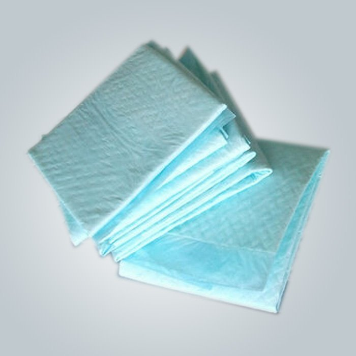 100% ポリプロピレン素材グリーン色 50 gr 使い捨て不織布シーツ