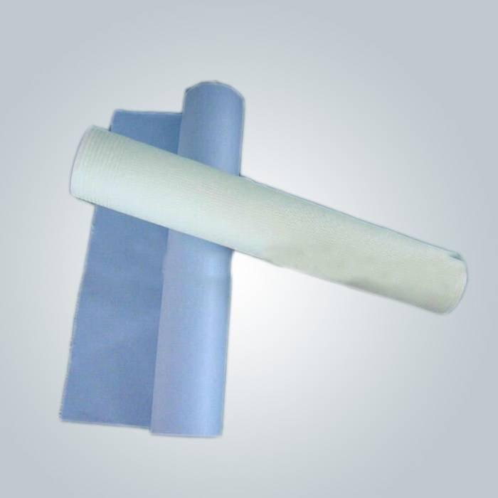 Cor-de-rosa, azul e branca SMS tecido não-tecido é usado no lençol de seiva