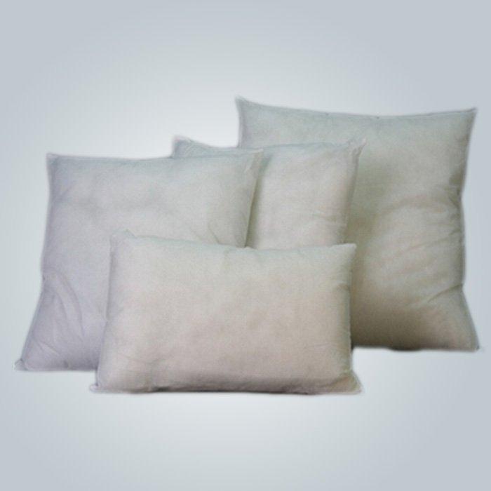 White Nonwoven Airplane Pillow Cover CE and FDA Certificate 40 cm * 40 cm