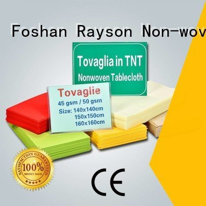 rayson nonwoven,ruixin,enviro Brand length long mr non woven tablecloth textile