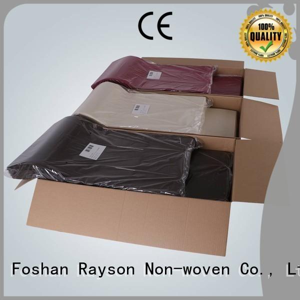 rayson nonwoven,ruixin,enviro Brand tabl furniture toxic non woven cloth