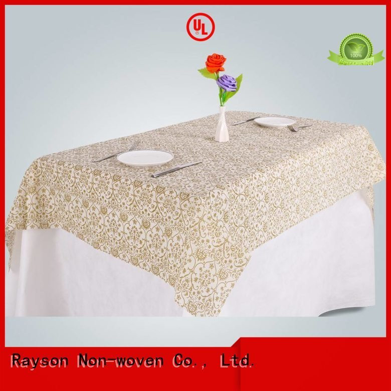 rayson nonwoven,ruixin,enviro brodeaux weeding tablecover non woven cloth yellow