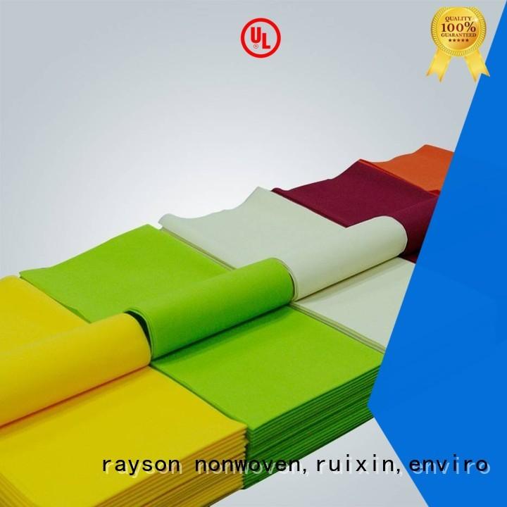 50gsm weight non woven tablecloth rayson nonwoven,ruixin,enviro Brand