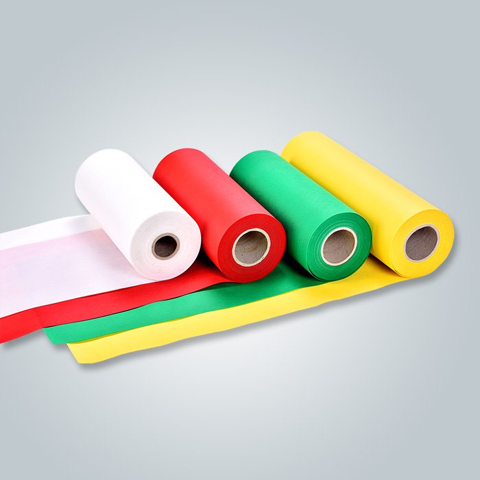 Blue hydrpphilic non woven textile and yellow non woven products