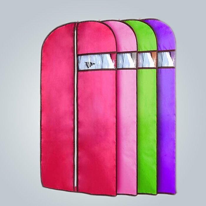 Fashion Style Colorful Customized Folding Disposable Suit Cover Spunbond Nonwoven Suit Bags