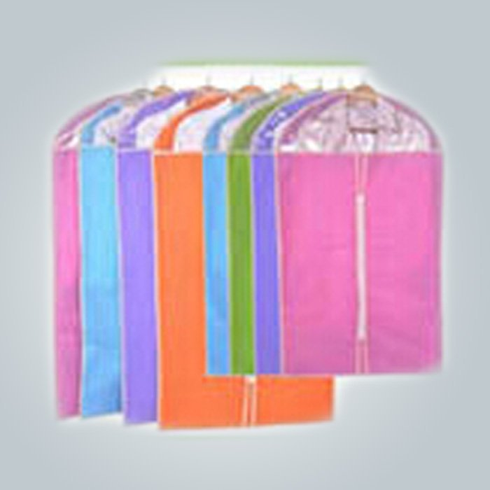 Fashion Style Colorful Customized Folding Disposable Suit Cover Spunbond Nonwoven Suit Bags