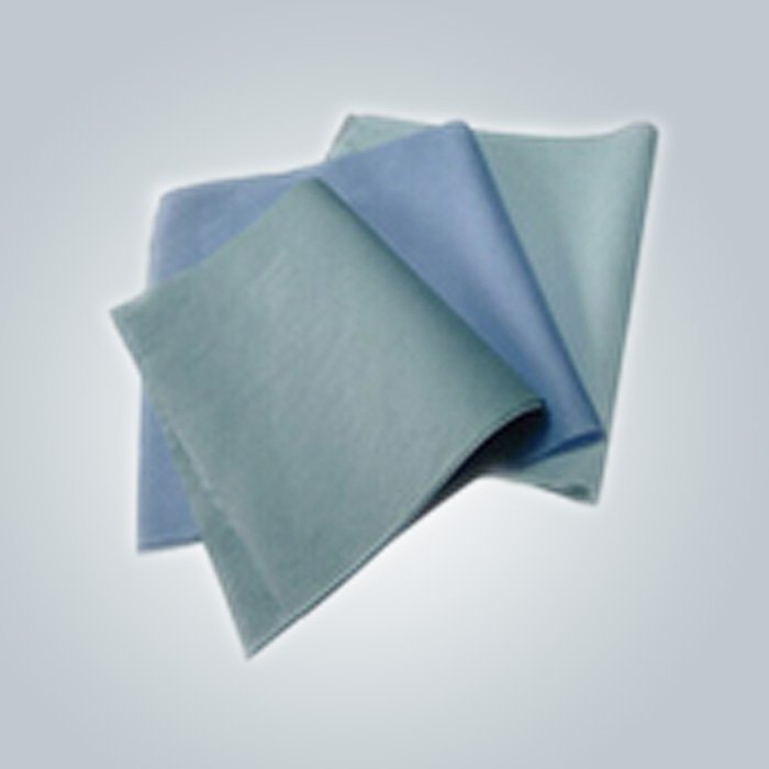 Eco - friendly 3 plis chirurgicaux jetables 100 % PP Spunbond Non tissé Bed Sheet For Medical
