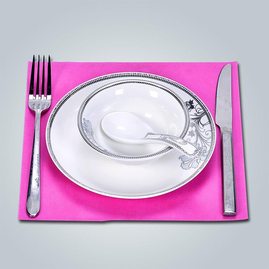 ヨーロッパの標準的な 45gsm/50gsm - 不織布テーブル クロス/テーブル不織布 pp
