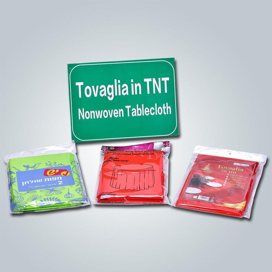 Feito em China fábrica não tecida tnt toalha de mesa / redondo tampa de tabela