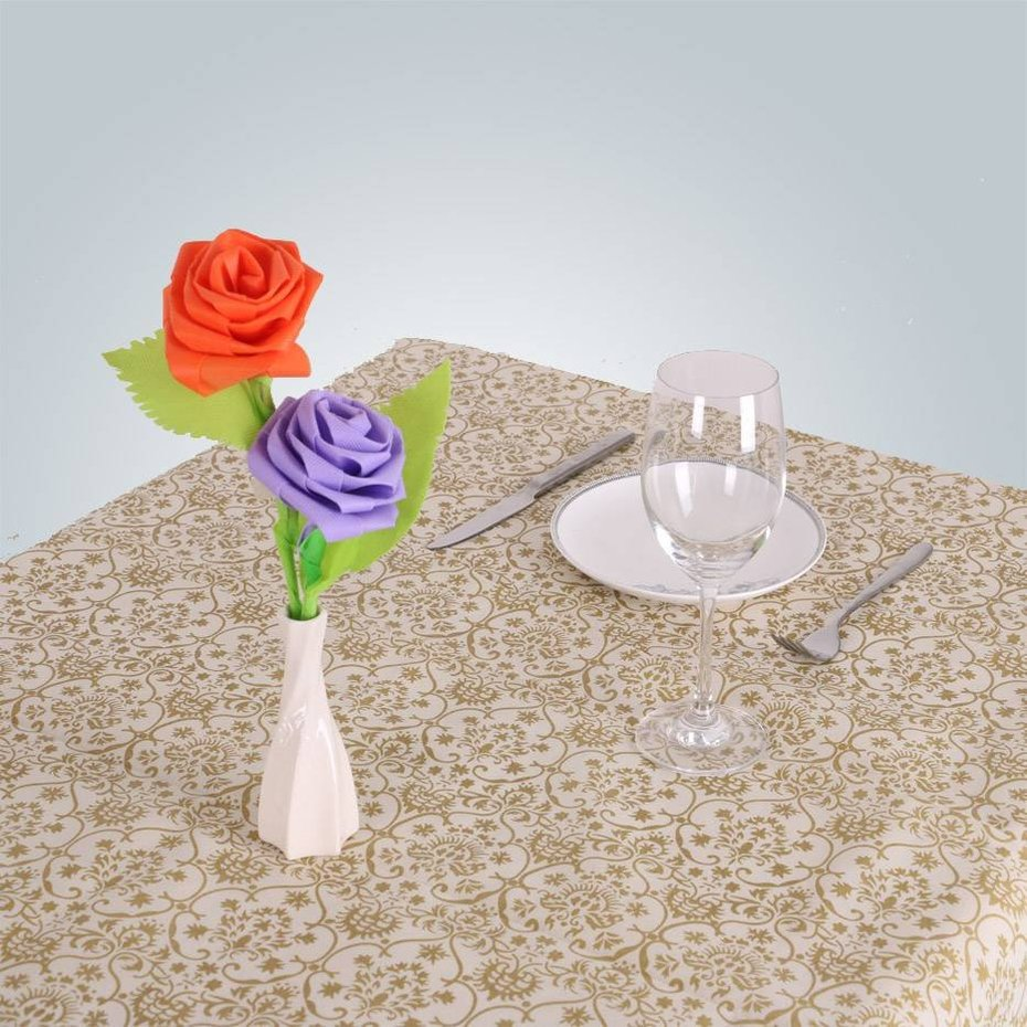 eco-friendly flower wrapping Nonwoven fabric pp table cloth disposable wedding tablecloths information