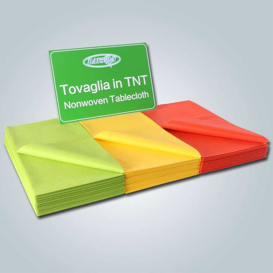 non woven for flower packing Disposable folded PP spun bonded non-woven tablecloth for party information