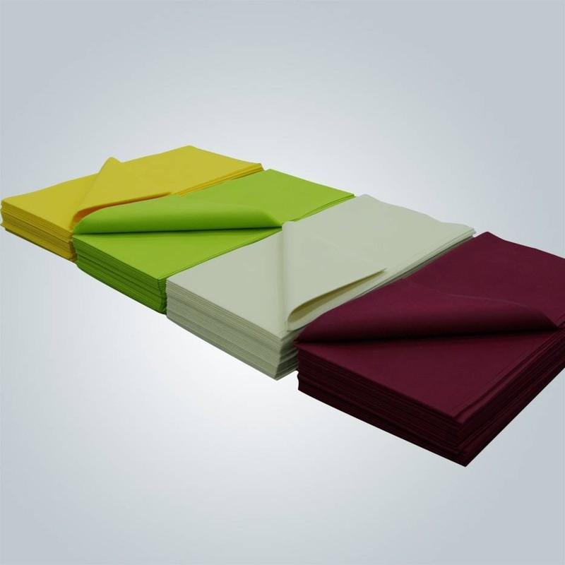 Tissu de table bon marché pour le tissu non-tissé jetables manufactuer direct
