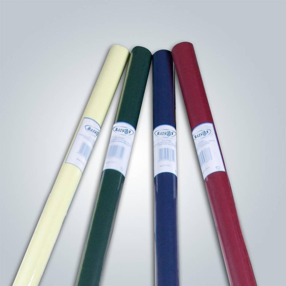 Pantone colors pp tablecloth fabrics 50gram disposable nonwoven tablecover