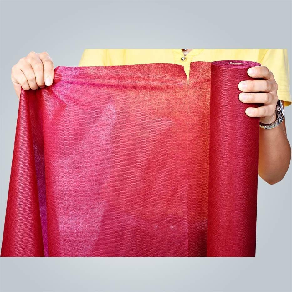 Não tecido spunbond, perfurado tecido de poliéster, tela não tecida dos pp
