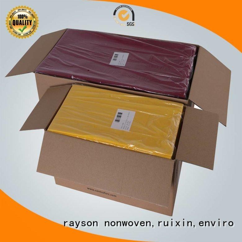 rayson nonwoven,ruixin,enviro Brand pink rolls selfowned non woven tablecloth