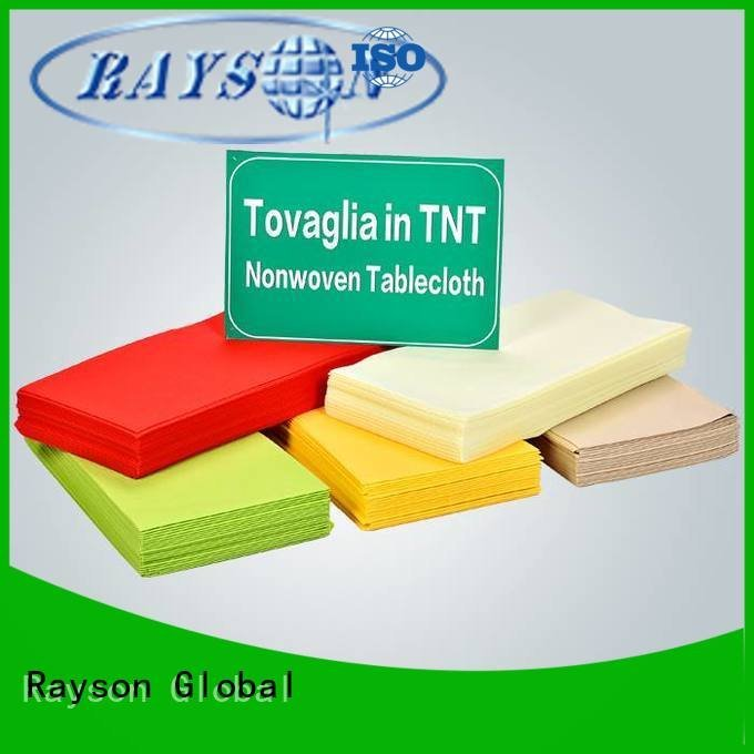 rayson nonwoven,ruixin,enviro cutting plaid tnt tablecloth 1m certificate