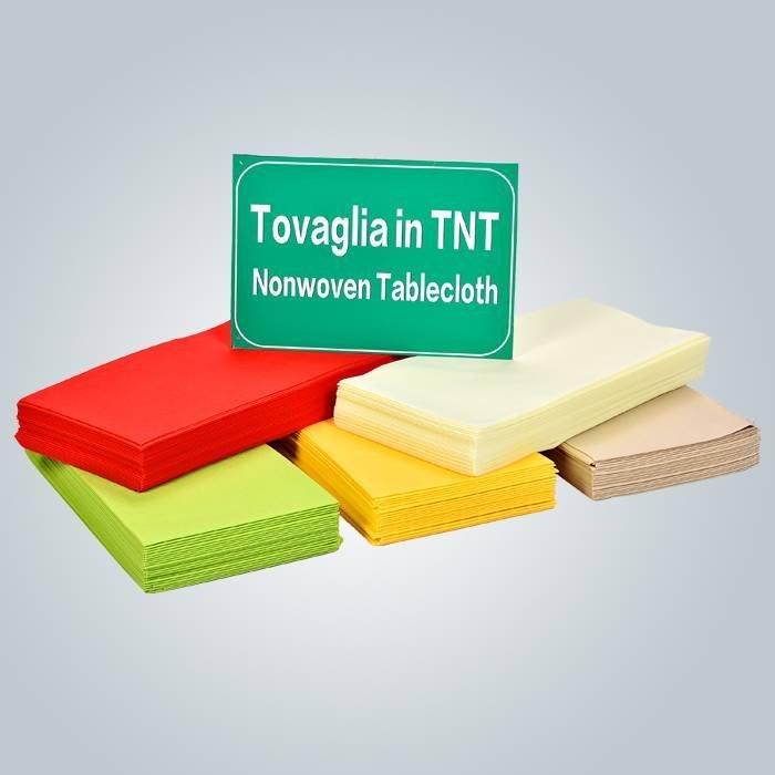 Monouso 非不織布テーブル クロスの TNT ファブリック海外安定した均一性使い捨て布 1 m * 1 m