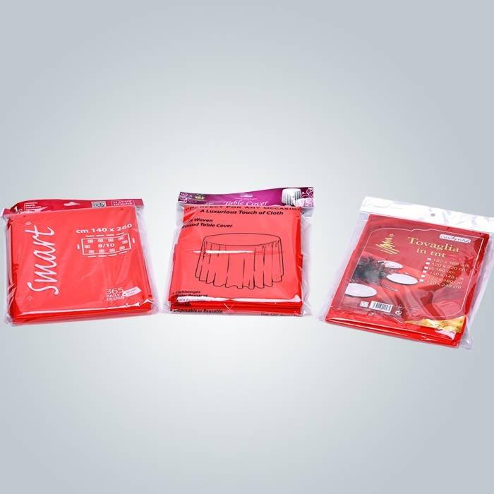 TNT Vlies Tabelle Abdeckung Einweg-kleine Roll Spunbond PP nicht gewebte Stoff-Tischdecken