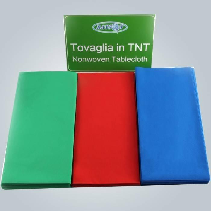 Couper 45 Gsm diverses couleurs couverture de Table jetables Tnt