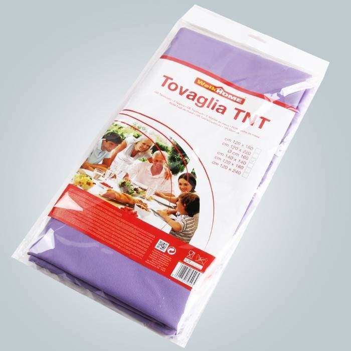 Without printing 40g To 60g Non Woven Tablecloth Tnt Fabric For Banquet Used