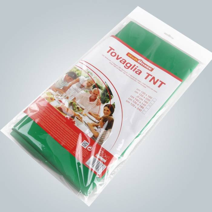 Single pack in poly bag with color paper non woven table cloth