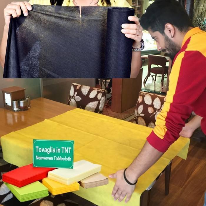 Resturant squra disposable table cloth