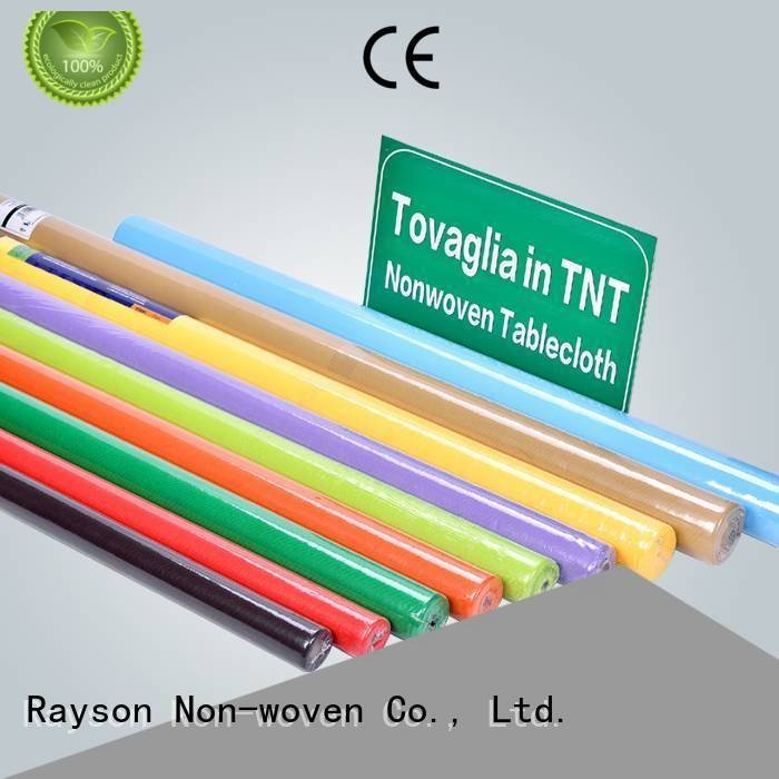 140cm140cm factory direct rayson nonwoven,ruixin,enviro disposable table cloths