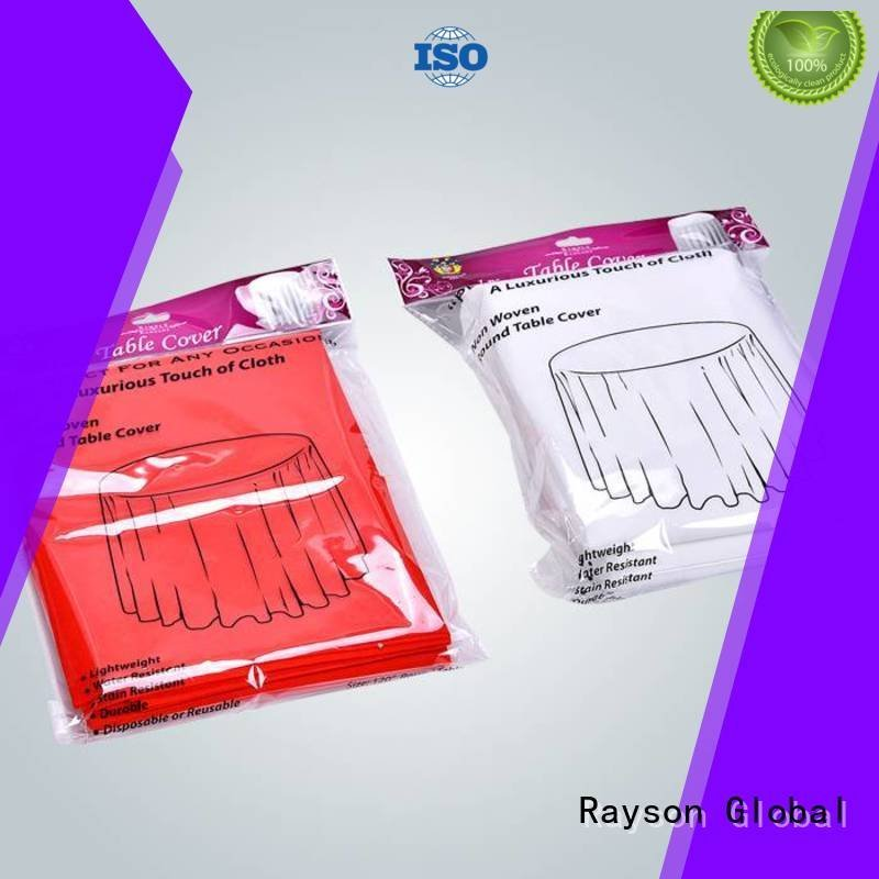 raw material for non woven fabric time cover OEM non woven fabric tablecloth rayson nonwoven,ruixin,enviro