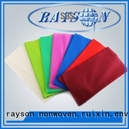 ecofriendly different non woven tablecloth eco rayson nonwoven,ruixin,enviro Brand