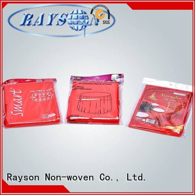 raw material for non woven fabric for rayson nonwoven,ruixin,enviro Brand non woven fabric tablecloth