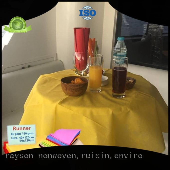 rayson nonwoven,ruixin,enviro Brand perforated feeling pink custom non woven cloth