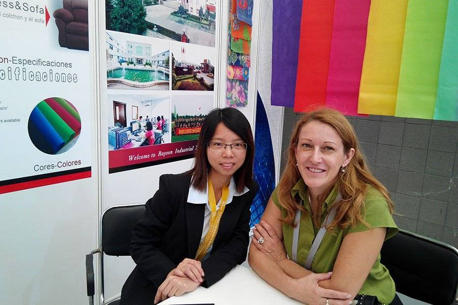 Slovenia customer meeting in Cinte techtextil in Shanghai 2014