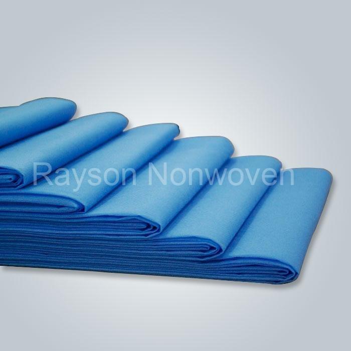 45gsm lenzuolo medico impermeabile fatta di tessuto non tessuto in polipropilene 100% populared nel mercato europeo