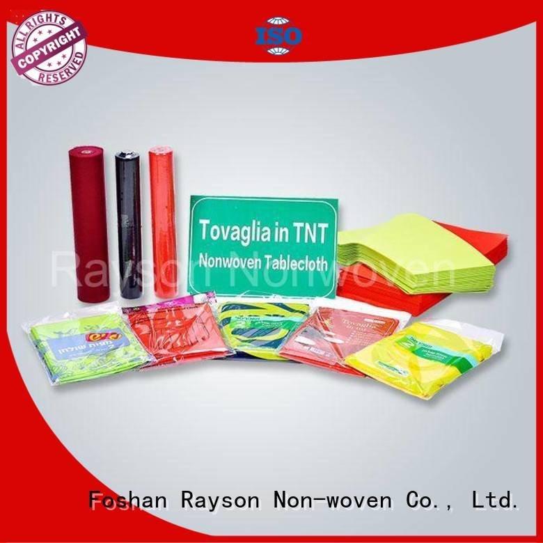 Hot non woven tablecloth rolle rayson nonwoven,ruixin,enviro Brand