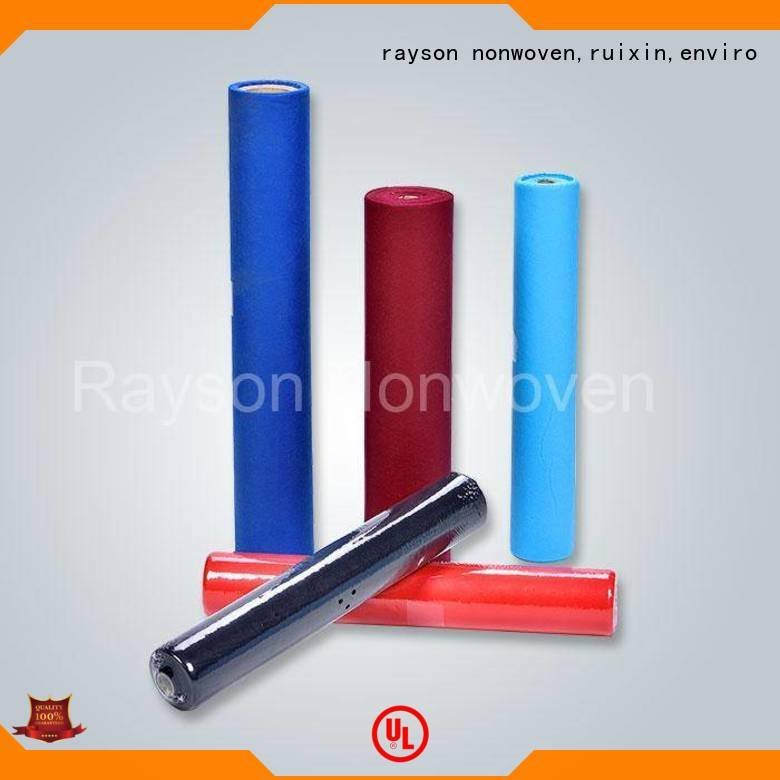 non woven cloth square color non woven tablecloth rayson nonwoven,ruixin,enviro Warranty