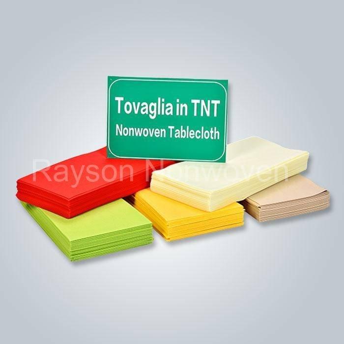 OEKO पार्टी, शादी, होटल रु-TC01 के लिए TEX प्रमाण पत्र डिस्पोजेबल गैर बुना मेज़पोश RS-TC01
