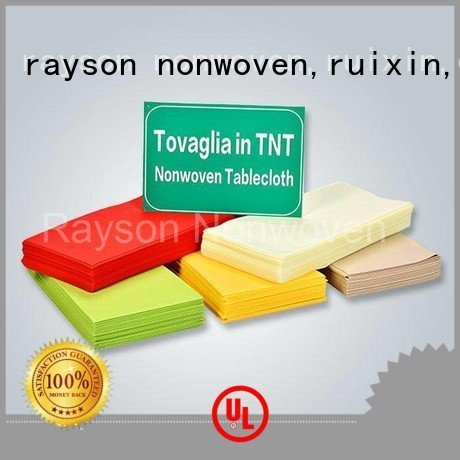 Quality rayson nonwoven,ruixin,enviro Brand non woven cloth elegant
