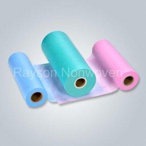 rayson nonwoven,ruixin,enviro-perforated pp non woven bed sheet for salon spa