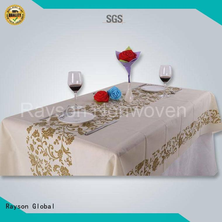 Hot non woven cloth party non woven tablecloth 70 rayson nonwoven,ruixin,enviro