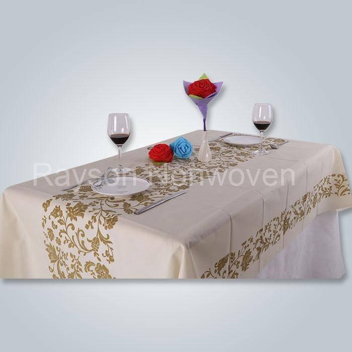 인쇄 된 tnt 식탁보, spunbond 비 짠 테이블 커버 다양 한 색상 RS RS-TC03