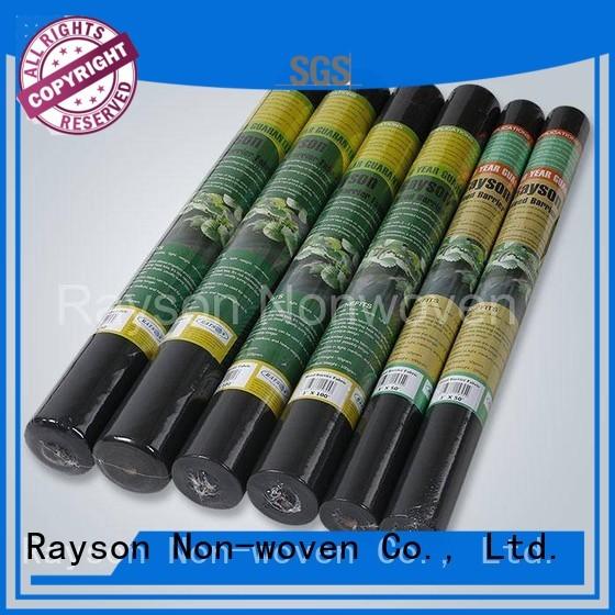 rayson nonwoven,ruixin,enviro Brand surpress control 3uv biodegradable landscape fabric
