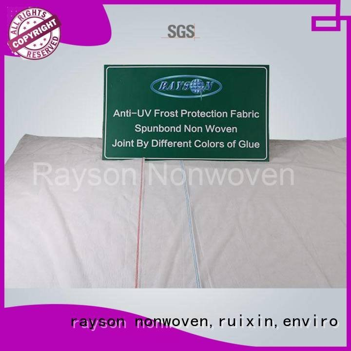 Quality rayson nonwoven,ruixin,enviro Brand uv biodegradable landscape fabric